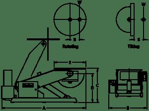 3-х осевой гидравлический сварочный позиционер серии РТ-H 1
